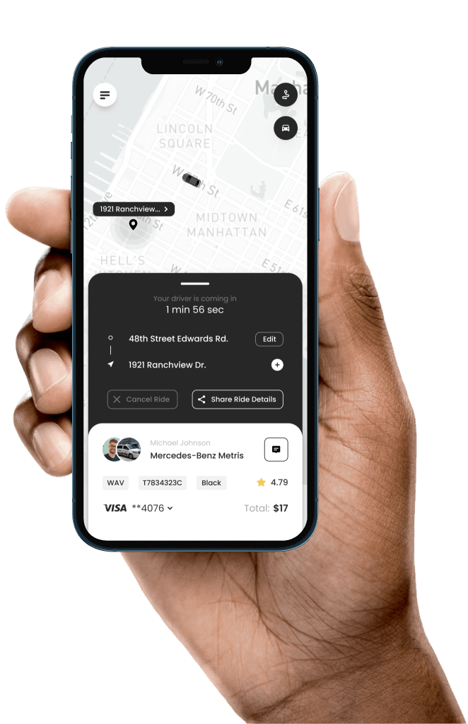 Myle Rider App - Transportation Services & Solutions for Corporate, Healthcare, On-Demand Delivery